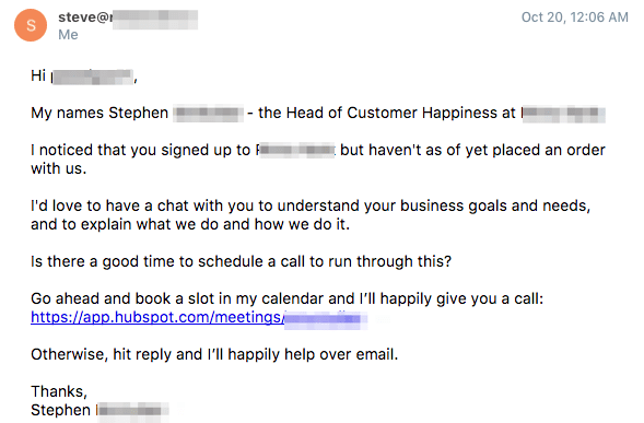 sales email