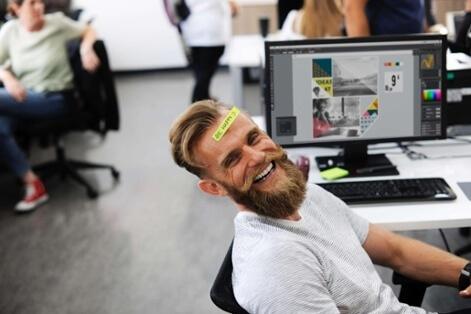 Marketing office worker